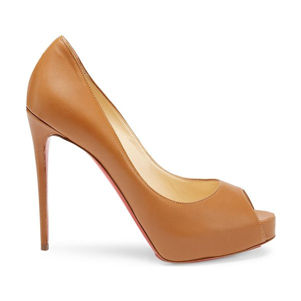 Christian Louboutin new very privé 120 leather peep toe pumps in caramel