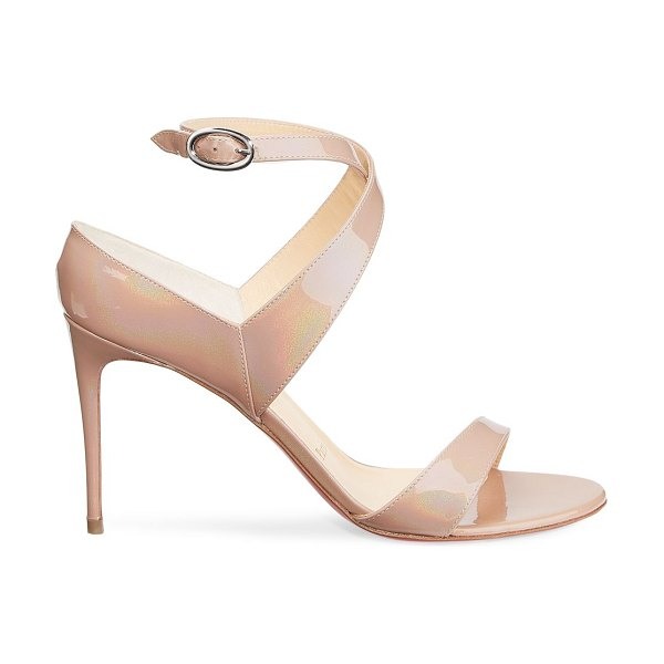 Christian Louboutin open liloo patent leather sandals in nude