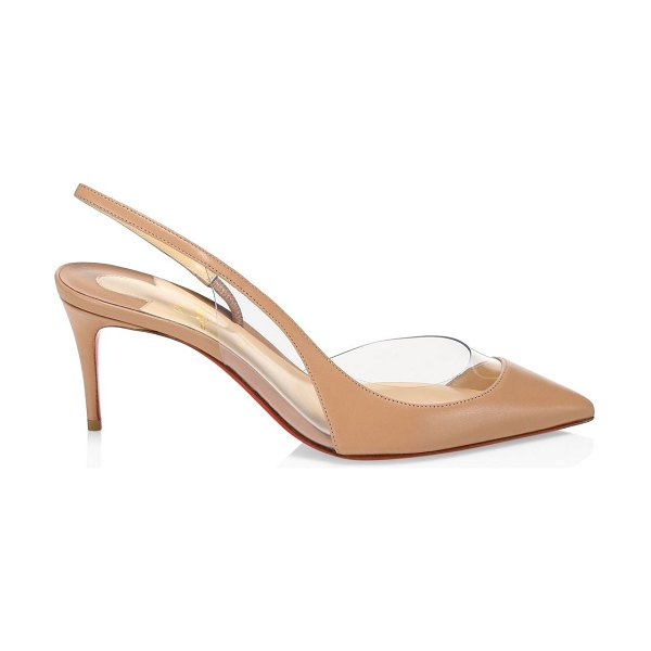 Christian Louboutin optisexy pvc & leather slingback pumps in nude