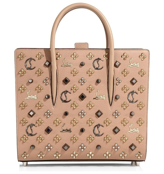 Christian Louboutin paloma medium leather tote in nude - From the FW17 collection Tote featuring stud appliques...