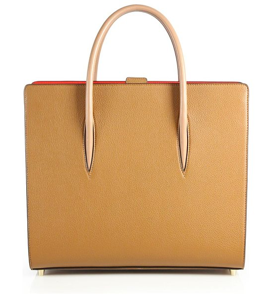 Christian Louboutin paloma pebbled leather tote in cashmere - Structured pebbled leather tote with smooth handles....