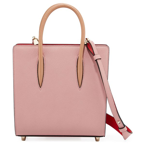 CHRISTIAN LOUBOUTIN Paloma Small Spike Leather Tote Bag in pink - Christian Louboutin leather tote bag with spiked patent...