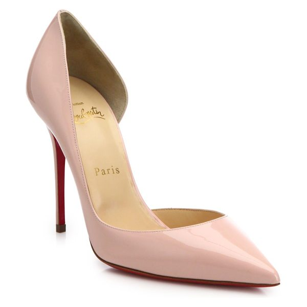 CHRISTIAN LOUBOUTIN iriza half d'orsay patent leather pumps - Timeless half d'Orsay pump in glossy patent leather....