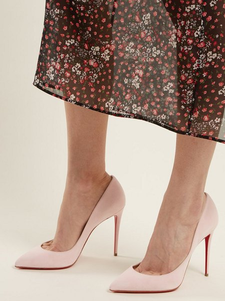 Christian Louboutin pigalle follies 100 suede pumps in light pink