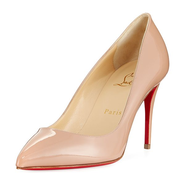 b3315fe7b4ea Christian Louboutin Pigalle Follies 85mm Patent Red Sole Pump in beige - Christian  Louboutin pump in