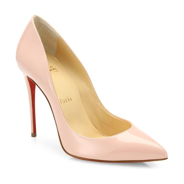 Christian Louboutin pigalle follies patent leather pumps in light pink - Signature silhouette cast in sleek patent leather....