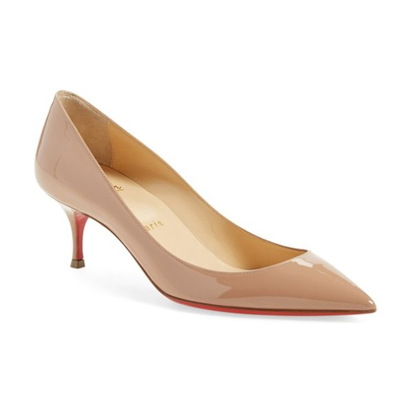 Christian Louboutin pigalle follies pointy toe pump in nude patent - Anything but basic, the timeless pointy-toe Pigalle...