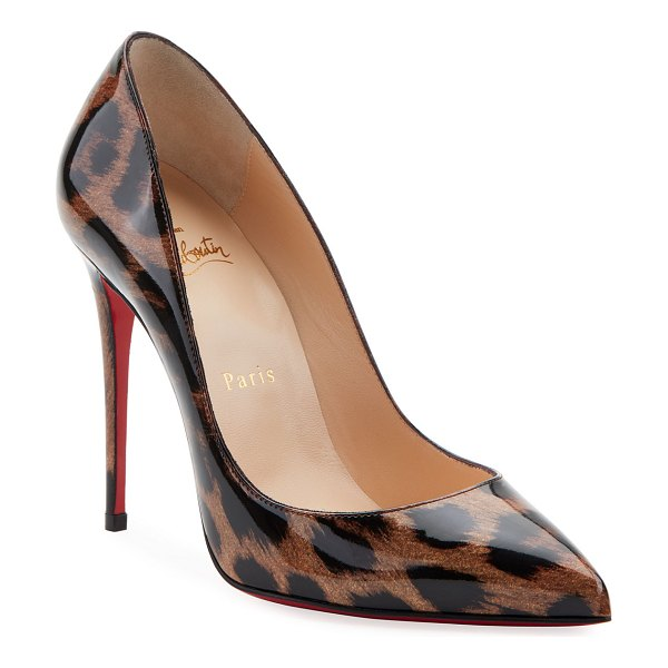 Christian Louboutin Pigalle Follies Red Sole Pumps in leopard