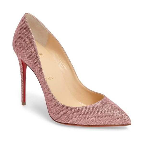 Christian Louboutin pigalle follies woven glitter pump in poudre glitter - Confident, iconic and effortlessly chic, the Pigalle...