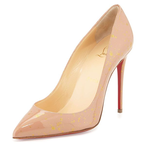 Christian Louboutin Pigalles follies red sole pump in nude/gold - ONLYATNM Only Here. Only Ours. Exclusively for You....