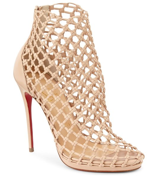 Porligat 120 beige leather booties Christian Louboutin