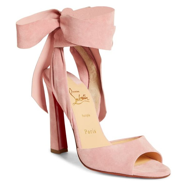 Christian Louboutin rose amelie ankle wrap sandal in pink