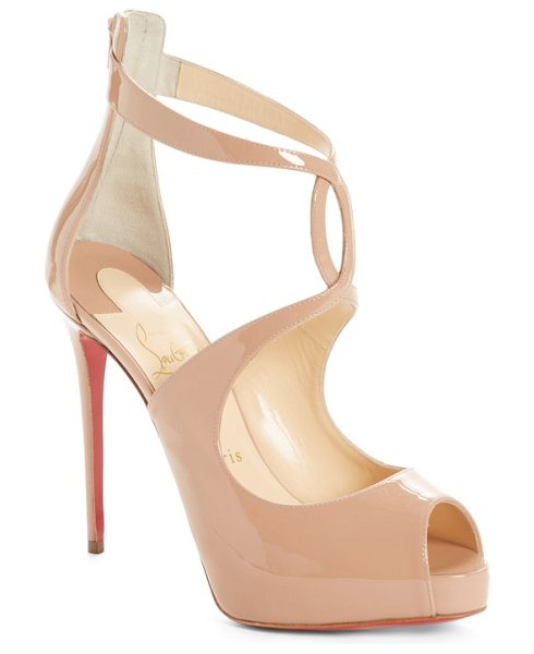 Christian Louboutin rosie peep toe pump in beige -