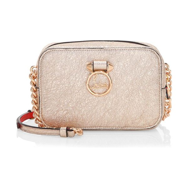 Christian Louboutin rubylou chain leather mini bag in rose gold - Leather mini bag with signature logo applique....