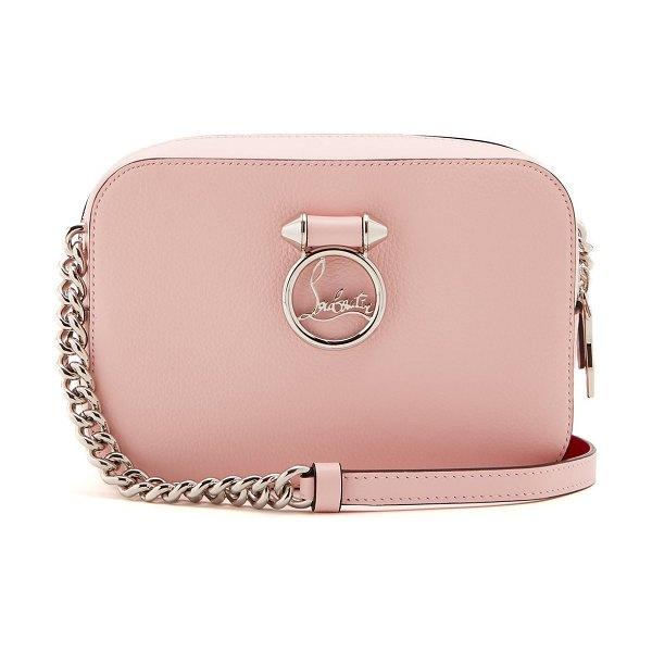 Christian Louboutin rubylou leather cross body bag in light pink