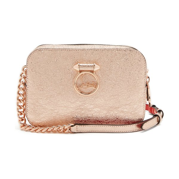 Christian Louboutin rubylou leather cross body bag in rose gold