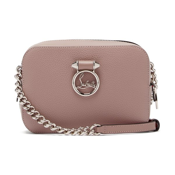 Christian Louboutin rubylou mini leather cross-body bag in light pink