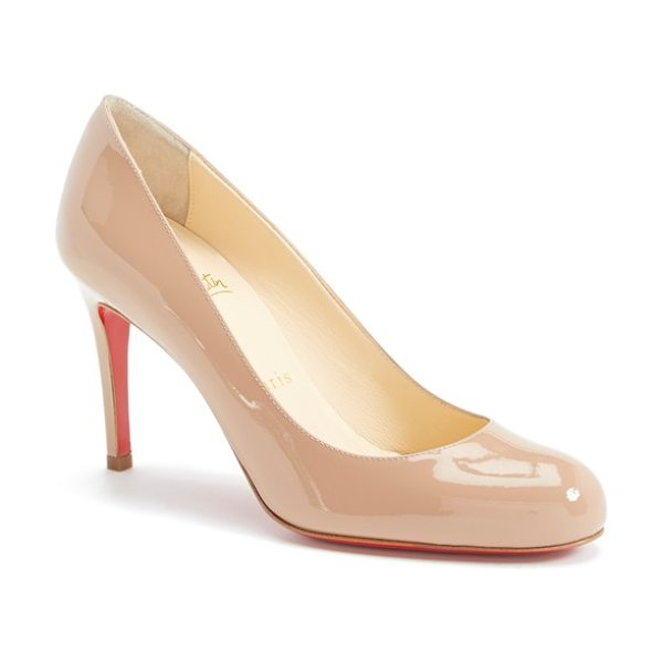 CHRISTIAN LOUBOUTIN simple pump - Sleek curves define a classic round-toe pump available...