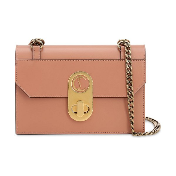 Christian Louboutin Small elisa leather shoulder bag in nude
