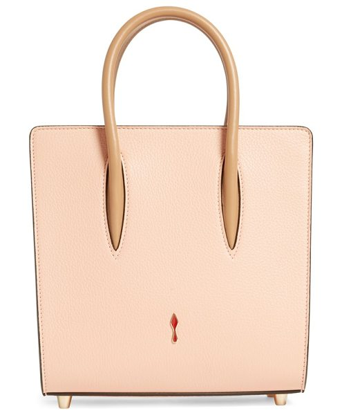 Christian Louboutin Small paloma empire calfskin leather tote in mystic pink/ cubiste - Pastel calfskin leather beautifully juxtaposes the...