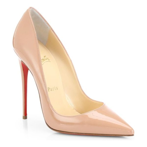 CHRISTIAN LOUBOUTIN so kate 120 patent leather pumps - Glossy patent leather takes on a bright, crimson hue,...