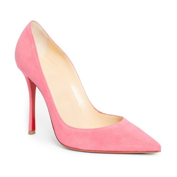 CHRISTIAN LOUBOUTIN so kate pointy toe pump in pink glitter - This glossy So Kate pump boasts Christian Louboutin's...
