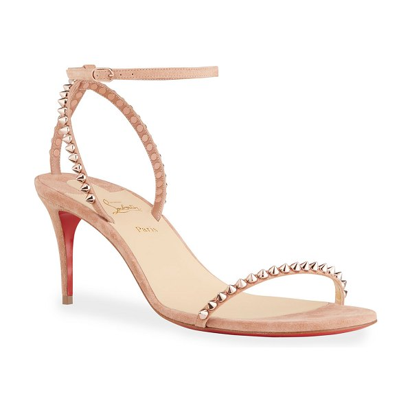 Christian Louboutin So Me Spike Ankle-Strap Sandals in bronze