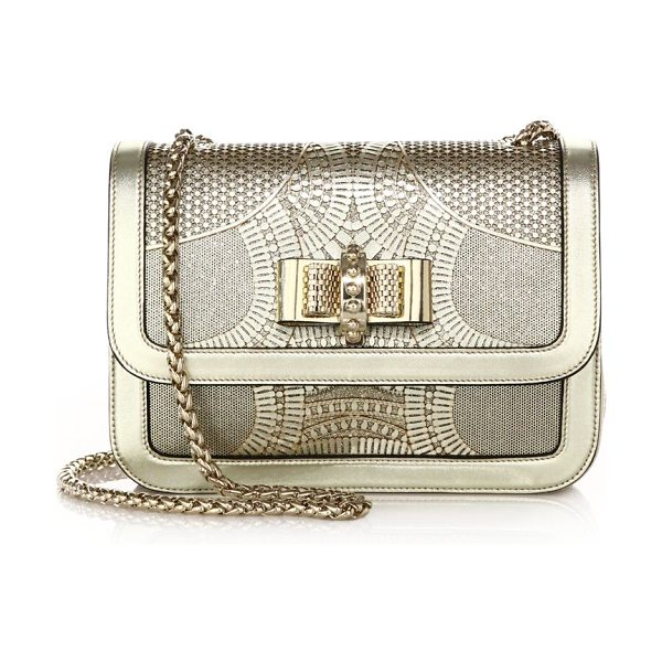 Christian Louboutin Sweet charity small metallic laser-cut shoulder bag in gold - Sweeping laser-cut panels are arranged in a striking...