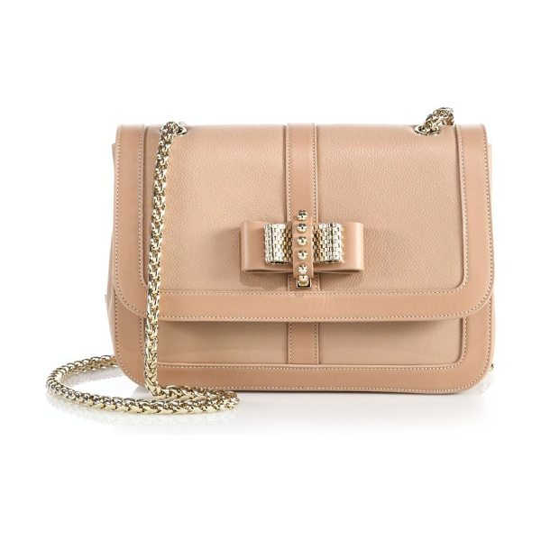Christian Louboutin Sweet charity small shoulder bag in nude - A petite version of the sweet, signature design in...
