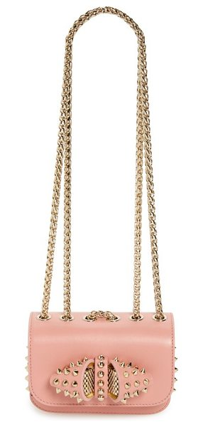 Christian Louboutin Sweet charity spike calfskin shoulder bag in ronsard/ gold