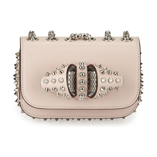 CHRISTIAN LOUBOUTIN Sweety charity spikes crossbody bag - Christian Louboutin calfskin crossbody bag. Silvertone...