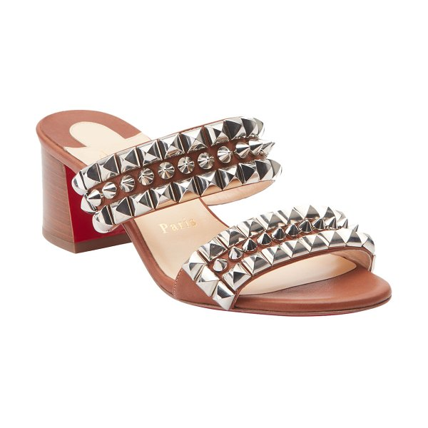 Christian Louboutin Tina Goes Mad 55 Leather Red Sole Sandals in brown