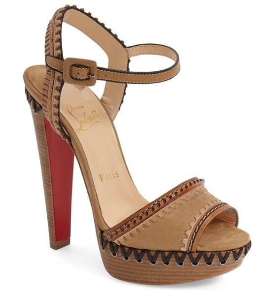 Christian Louboutin trepi sandal in camel noisette leather
