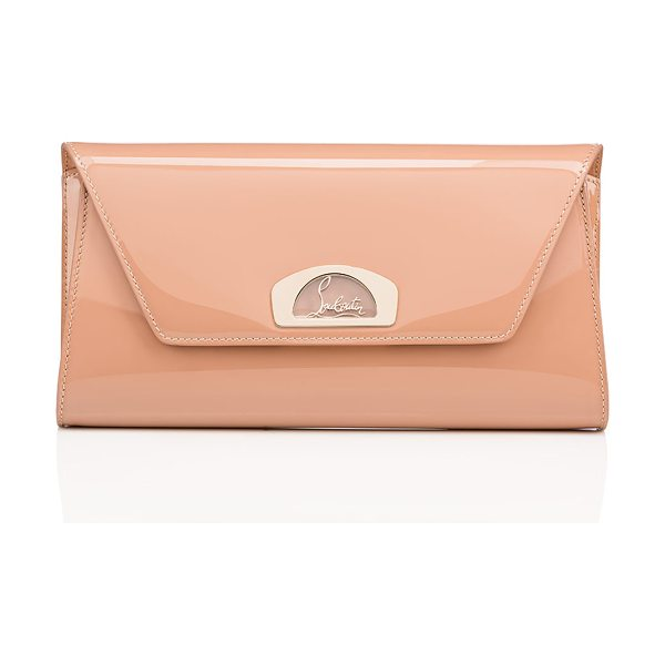 Christian Louboutin Vero Dodat Classic Leather Clutch Bag in nude