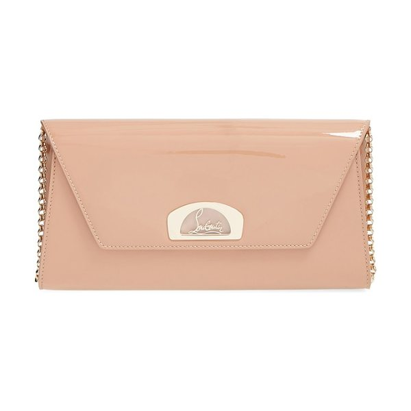 Christian Louboutin 'vero dodat' patent clutch in nude - Inspired by the covered arcade where Christian...