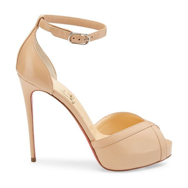 Christian Louboutin very cathy leather platform sandals in nude