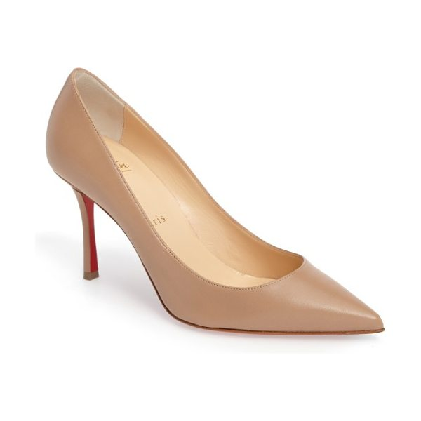 CHRISTIAN LOUBOUTIN decoltish pointy toe pump - A daring d'Orsay topline and a sharply pointed toe...