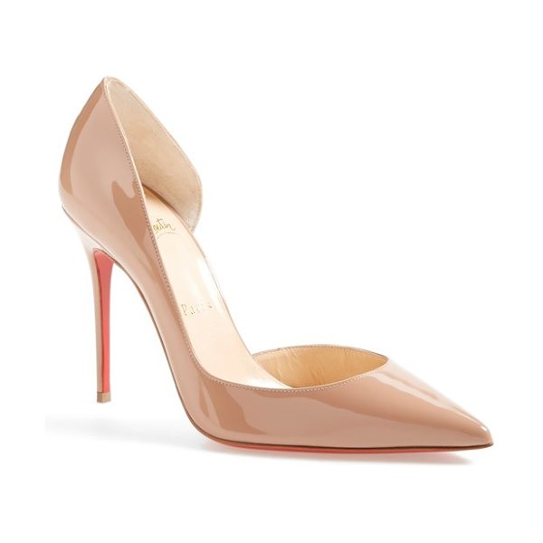 CHRISTIAN LOUBOUTIN 'iriza' pointy toe half d'orsay pump - Christian Louboutin's iconic red sole was born from red...