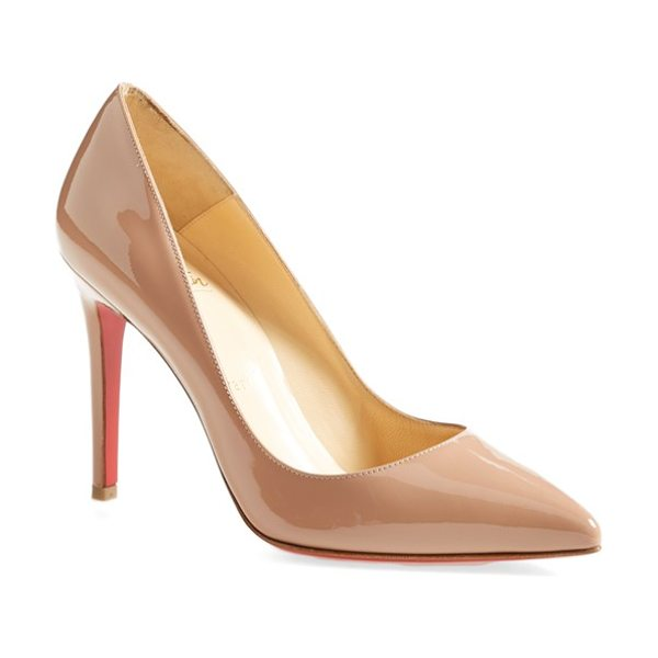Christian Louboutin pigalle pointy toe pump in nude - This timeless pointy-toe Pigalle pump catches the eye in...
