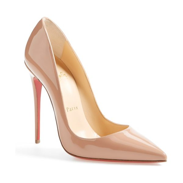 Christian Louboutin so kate pointy toe pump in beige