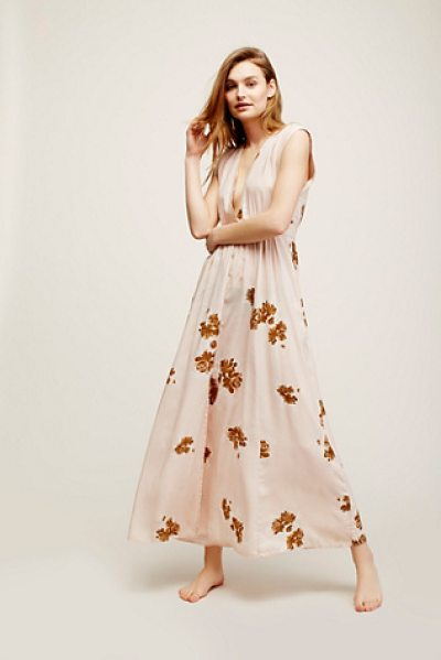 Christy Dawn Rosemary dress in mauve floral - Vintage-inspired maxi dress featuring femme floral...