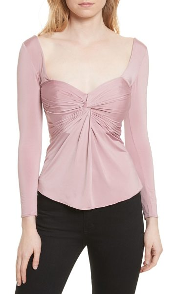 CINQ A SEPT alle twist front top - A romantic sweetheart neckline graces a figure-skimming...