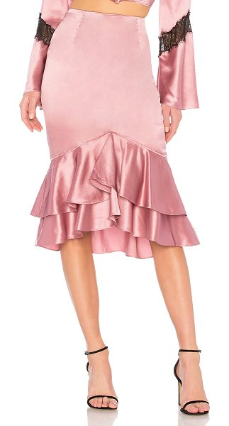 "Cinq A Sept Anissa Skirt in rose - ""Self: 100% silkLining: 100% poly. Dry clean only. Fully..."