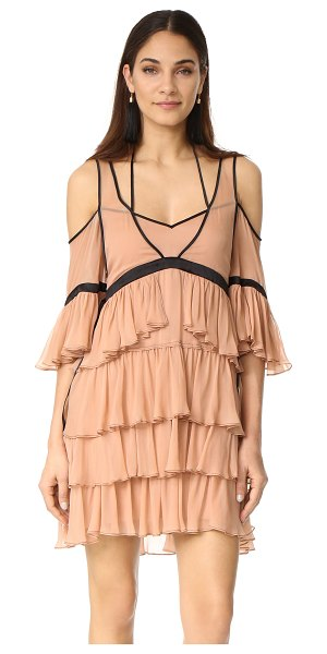 CINQ A SEPT blair dress - Contrast seams accentuate the delicate, tiered ruffles...