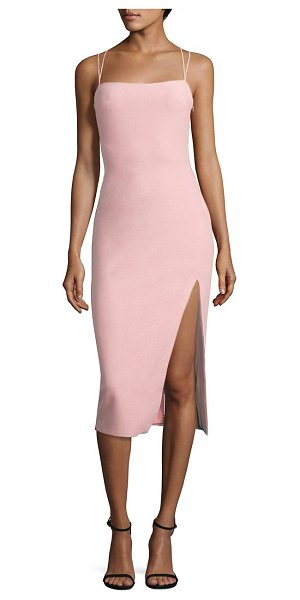 CINQ A SEPT cairen slit dress - Figure-hugging dress with sultry front slit. Squareneck....