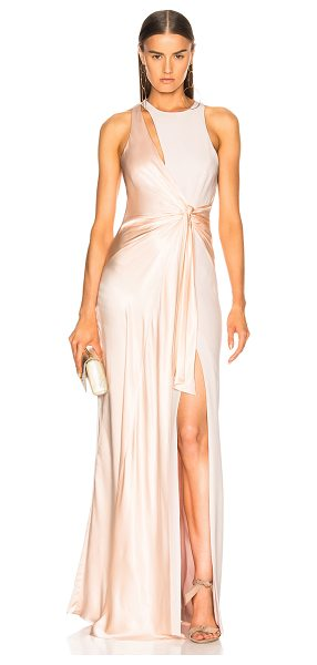 Cinq A Sept Clemence Gown in pink - Self: 69% triacetate 31% poly - Contrast Fabric: 100%...