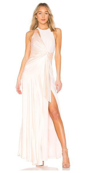 CINQ A SEPT Clemence Gown in pink - Self: 69% triacetate 31% polyLining: 95% poly 5%...