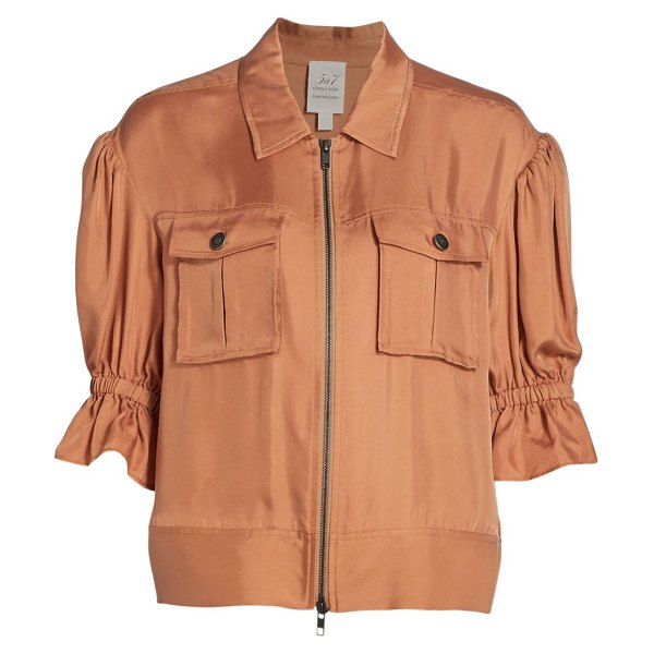 Cinq à Sept holly puff-sleeve utility jacket in light cinnamon