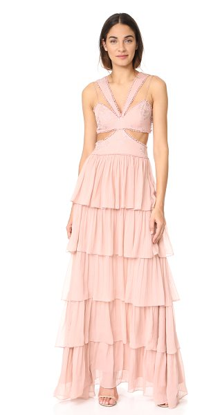 Cinq A Sept leda silk gown in mauve/mauve - A glamorous Cinq a Sept gown with a cutout bodice...