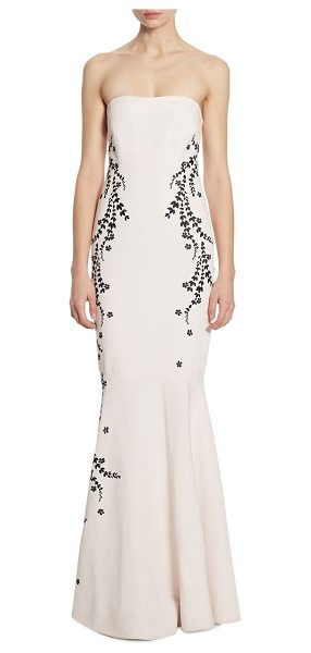CINQ A SEPT luna embroidered strapless gown - Floral embroidery cascades down strapless mermaid gown....